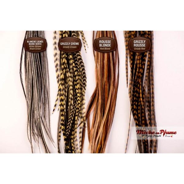 Plumes pour cheveux paquets de 5 m ches - Plume dans les cheveux ...