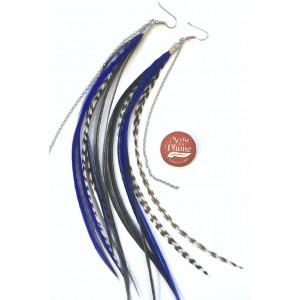 Boucles d'oreilles plumes - Fée Turquoise