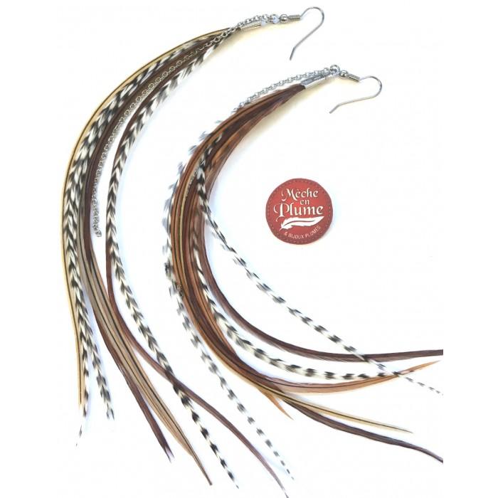 Feather Earrings - Moka Fairy