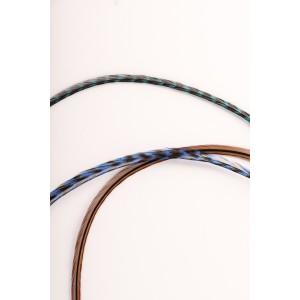 Mèche de 3 Plumes - Lagon bleu