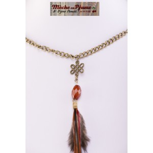 Collier Plume Coquine - Plumes Rouge