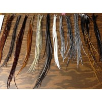 CUSTOM ORDER \ 12 bulk feathers natural mixed