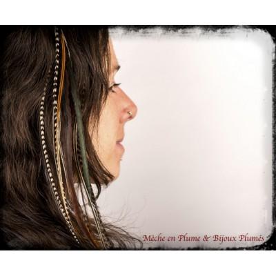 Choix de 3 plumes - Cheveux longs