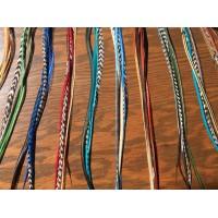 Isabelle Pottier / Custom feathers order / 15 extensions de 4 Plumes XXL avec micro bille / Colorful / Quantité limité