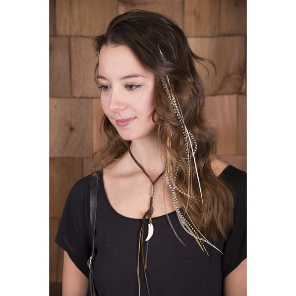 Meche En Plume Feather Hair Extension Jewelry Craft Handmade