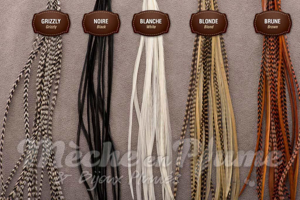 Plumes naturelles pour cheveux votre go t - Plume dans les cheveux ...
