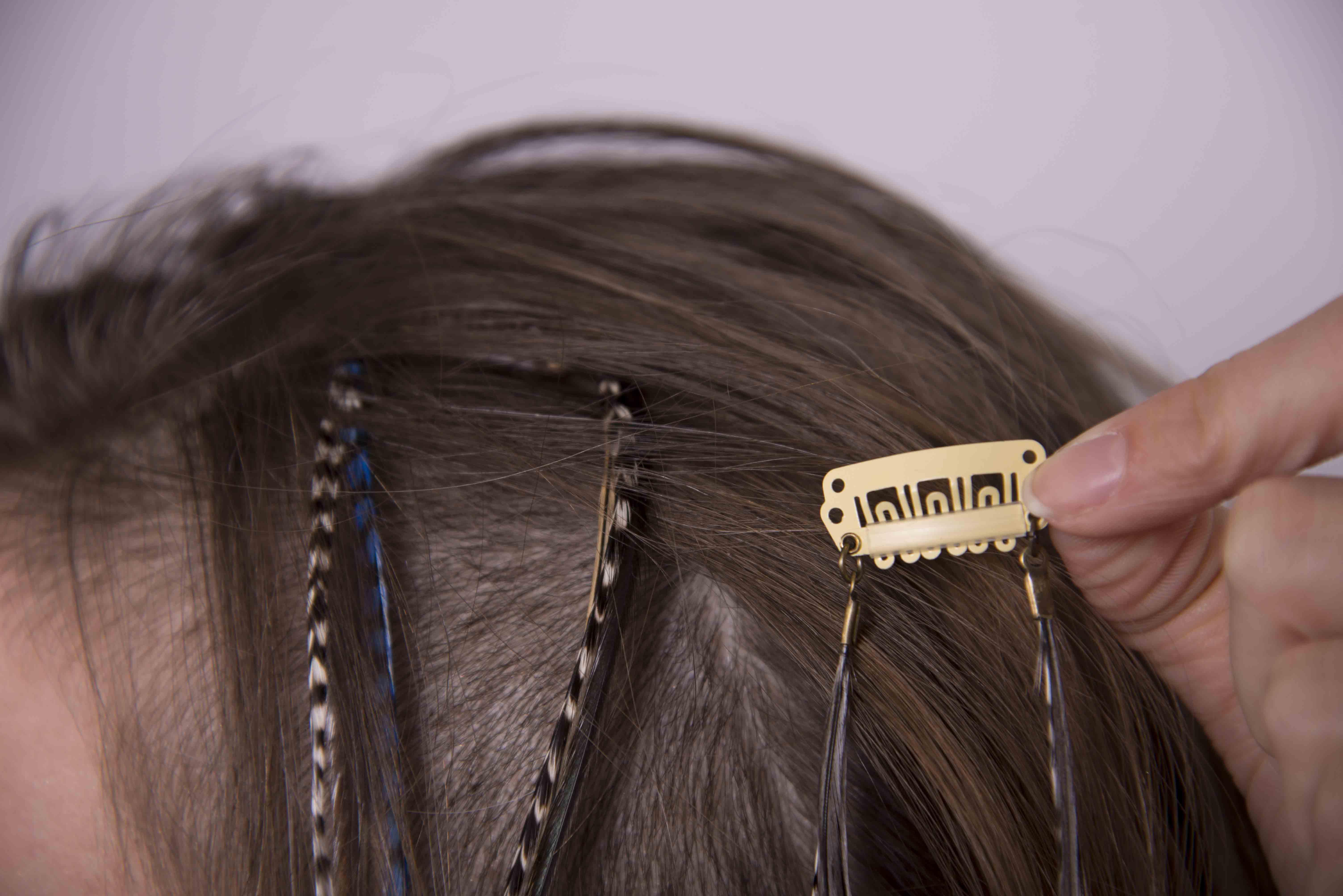 plume pour cheveux. Black Bedroom Furniture Sets. Home Design Ideas